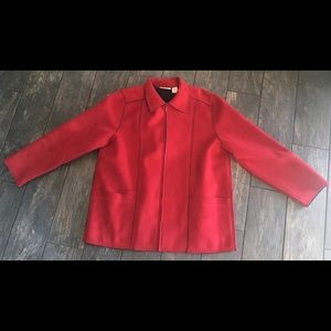 alfred dunner Red Zip Up Jacket Size 16